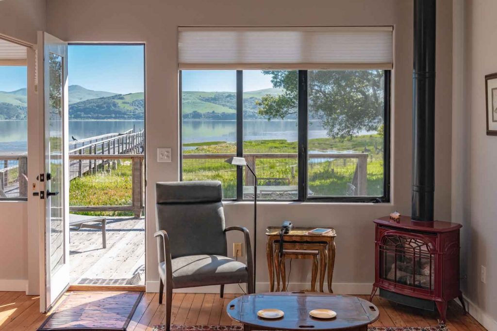 Point Reyes cottages on Tomales Bay